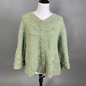 Anthropologie Sweater Far Away From Close Green